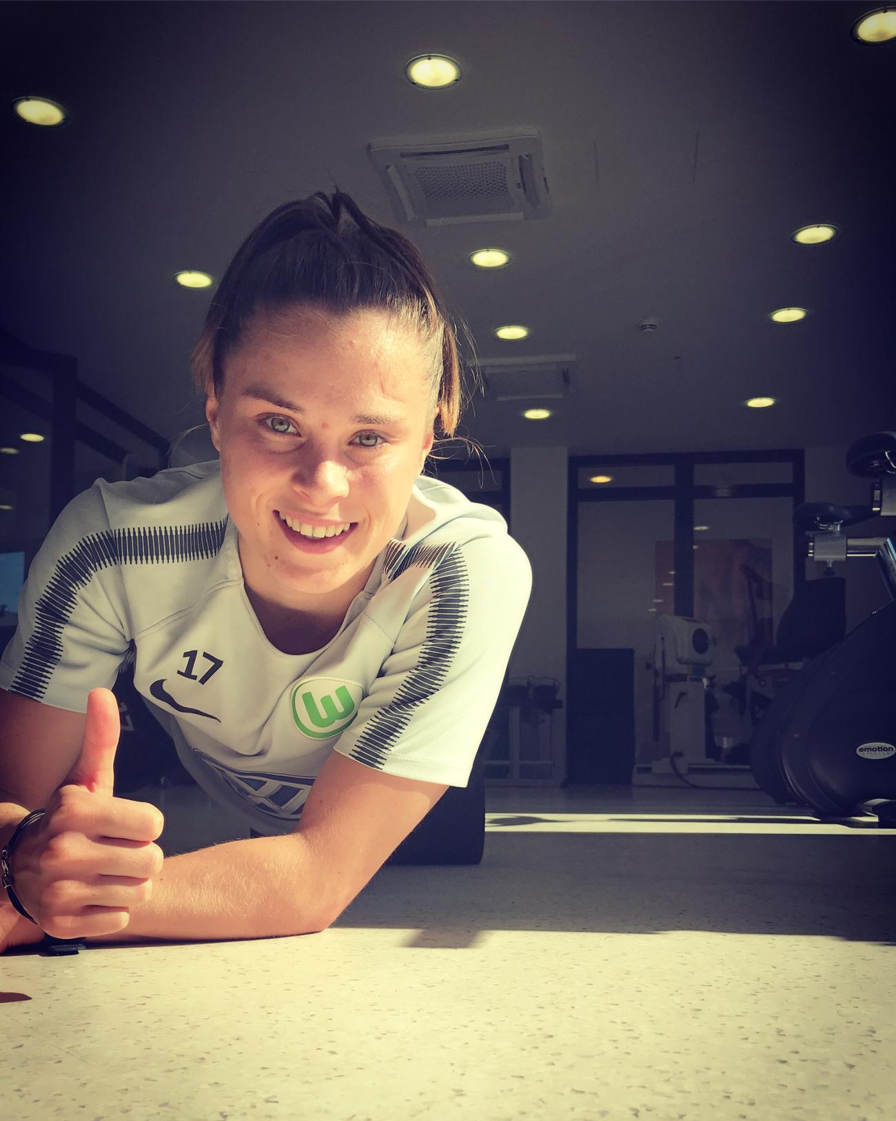 Ewa Pajor na siłowni