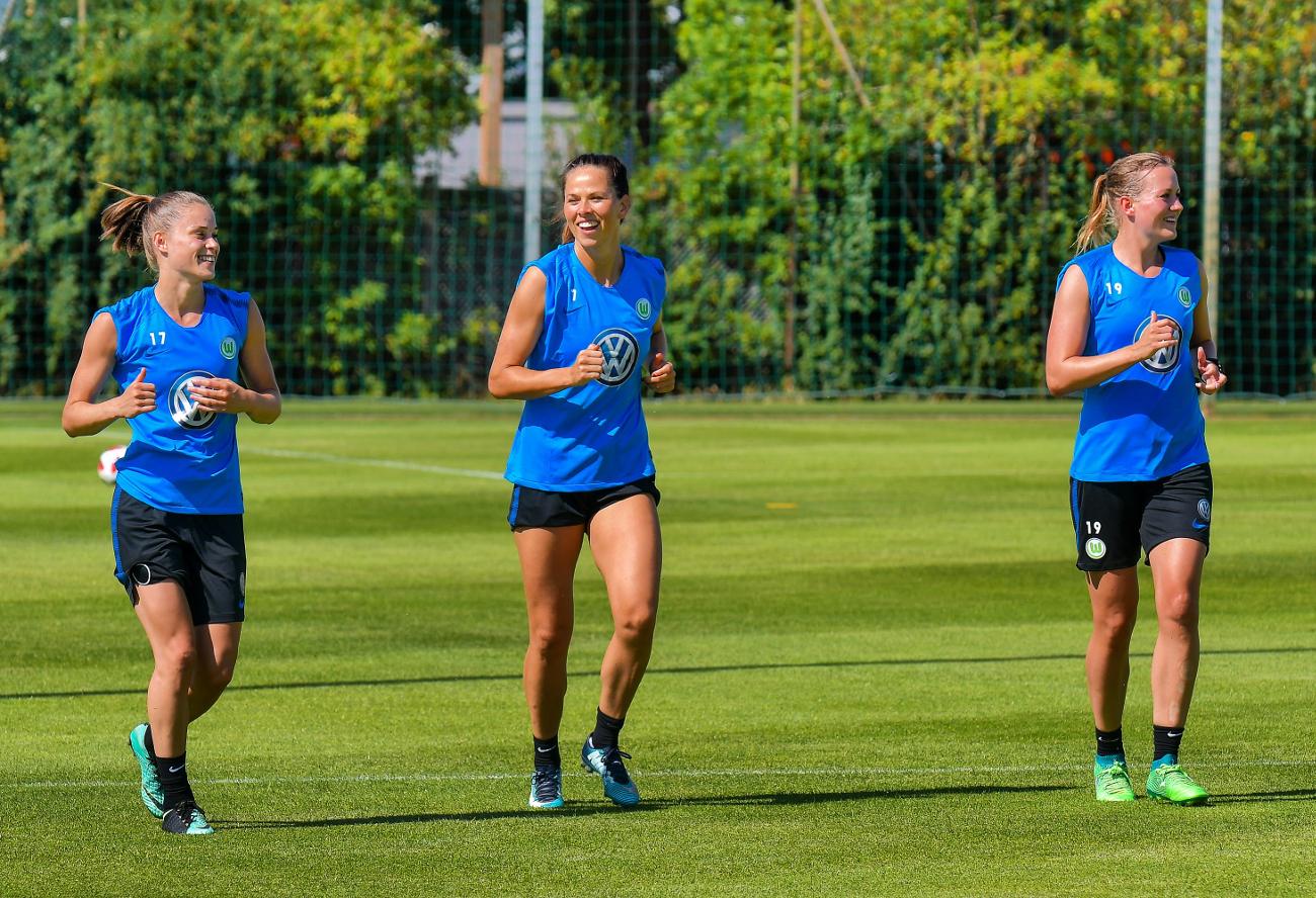 Ewa Pajor na trening VfL Wolfsburg