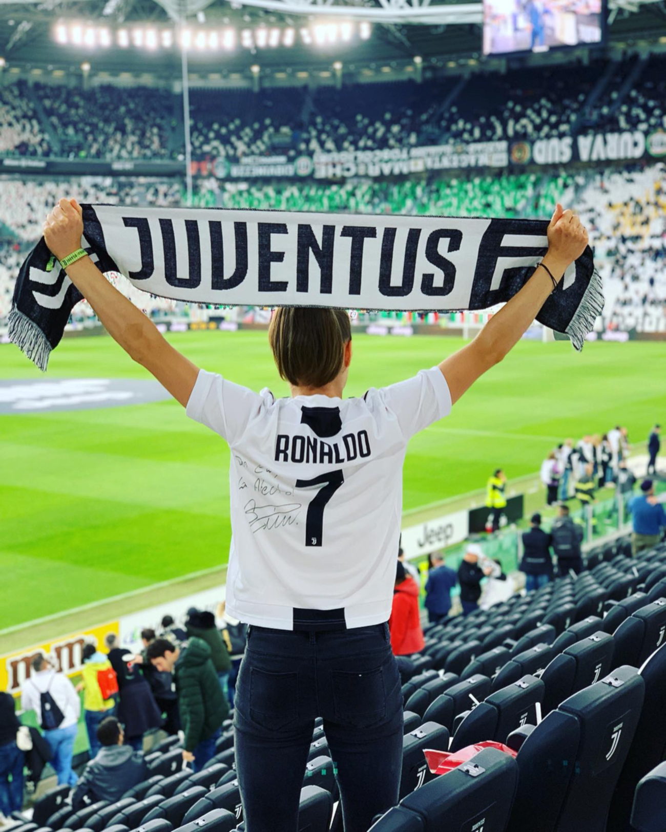 Ewa Pajor in Juventus Stadium