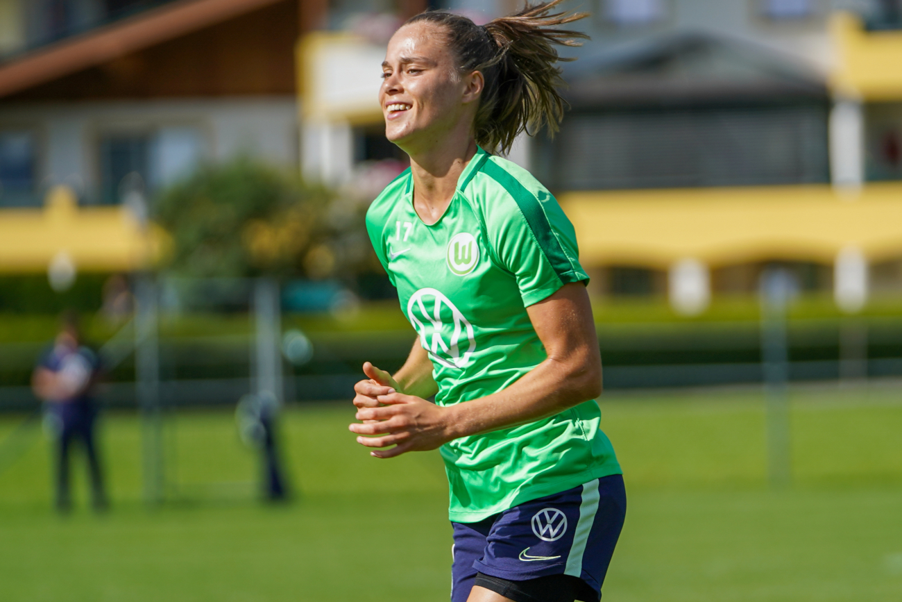 Ewa Pajor na treningu VfL Wolfsburg w Austrii