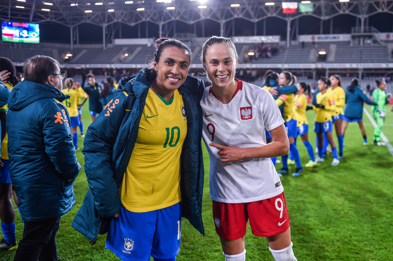 Poland - Brasil 1:3 Ewa Pajor with Marta